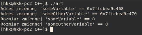 typy wzorów c ++ - long int