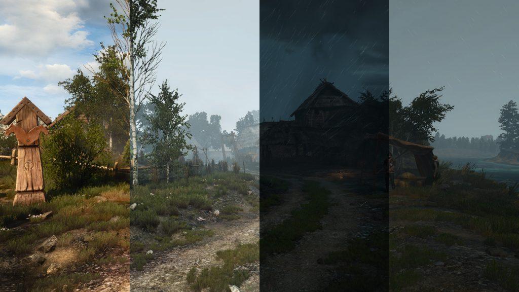 realistic weather wiedźmin 3 mody