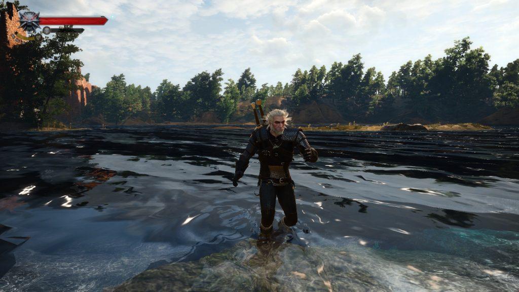 wiedźmin mod jump in shallow water