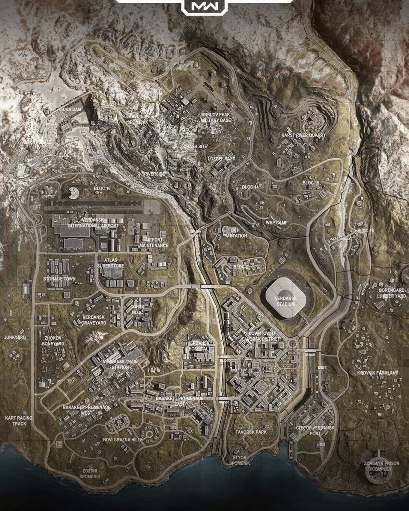 call of duty warzone mapa