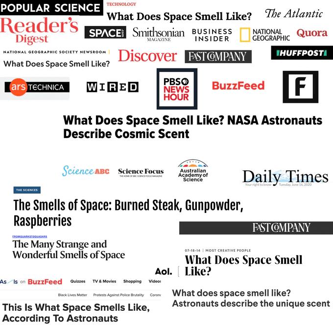 jak pachnie kosmos