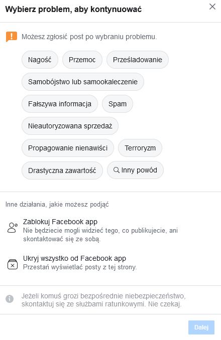 napisz do facebooka