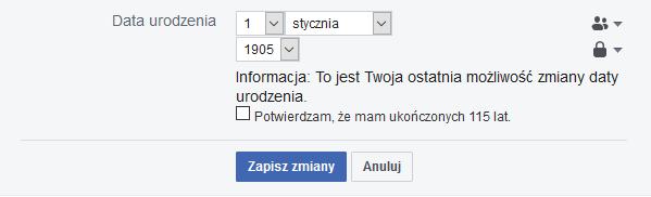 data urodzenia na fb