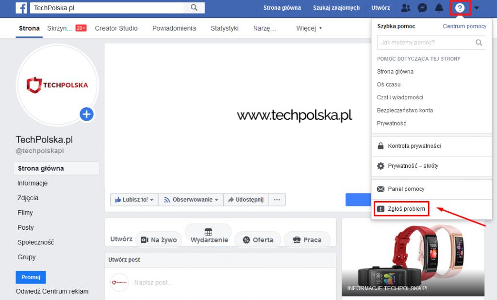 jak napisać do facebooka
