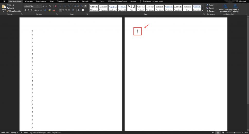jak usunąć pustą stronę w wordzie
