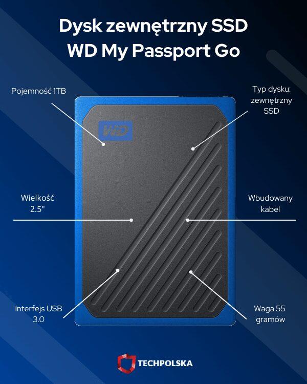 wd my passport go specyfikacja