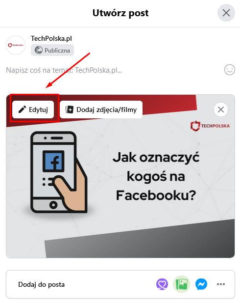 jak oznaczać na fb