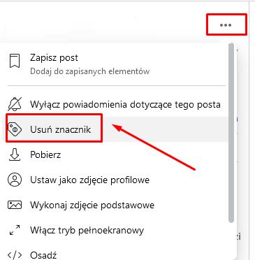 jak usunąć zdjęcie z fb