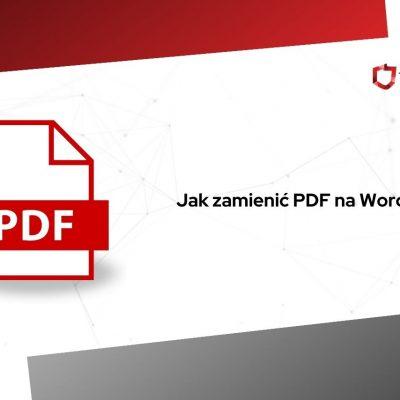 jak zamienić pdf na worda